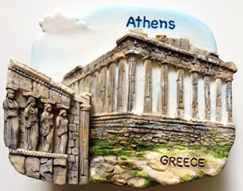 The Parthenon Acropolis ATHENS Greece Resin 3D fridge Refrigerator Thai Magnet Hand Made Craft. by Thai -