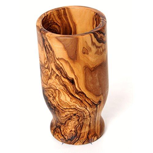 - Beldinest Handmade Olive Wood Utensil Holder