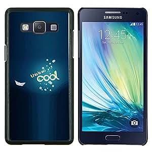 LECELL--Funda protectora / Cubierta / Piel For Samsung Galaxy A5 A5000 -- Enfriar Sé Barco Mar Azul burbujas de texto --