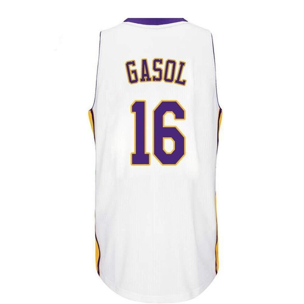 NBALL-HU Camisetas De Baloncesto para Hombre - Los Angeles Lakers ...