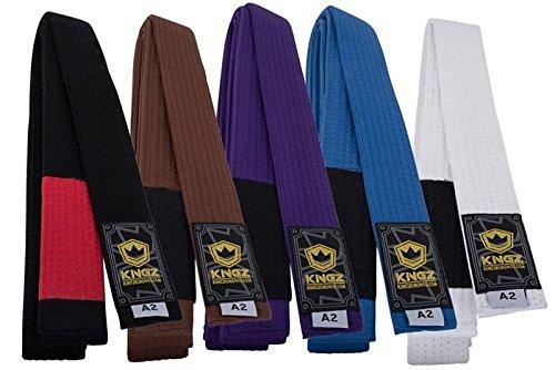 Kingz GOLD LABEL JIU JITSU BELTS - Purple - A3 (Purple Bjj Belt)