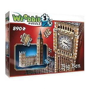 Wrebbit W3d 2002 Puzzle 3d Big Ben 890 Pezzi