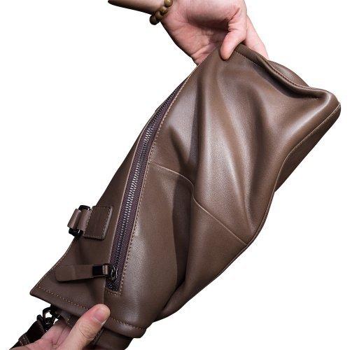 Mens Business Tote Handbag Doctor Leather Document Clutch Bag Strap by MXPBJ (Image #6)