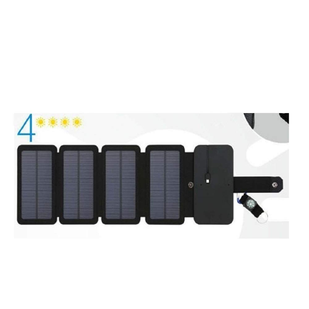 HDT Solar Charger Cells SunPower Folding 10W 5V 2.1A USB Output Devices Portable Solar Panels for Smartphones (4 Solar Panels)