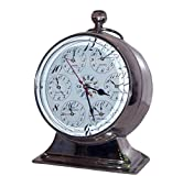 SKB Family 8 Nickel Paperweight Clock with Seven Faces on Stand nickel glass