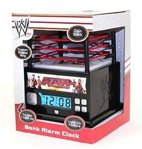 Amazon Com Wwe Raw Wrestling Ring Alarm Clock Bank With