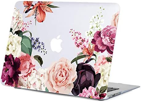 MacBook Floral Flower Clear Inches