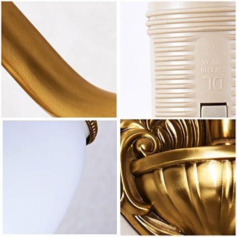 LQ European Copper Room Bedroom Bedside E27 Wall Lamp Living Restaurant Corridor Aisle Lighting