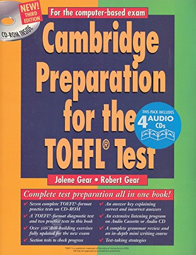 Cambridge Preparation for the TOEFL® Test Book/CD-ROM/audio CD (Cambridge Preparation for the TOEFL Test (W/CD & CD-ROM)) by Cambridge University Press