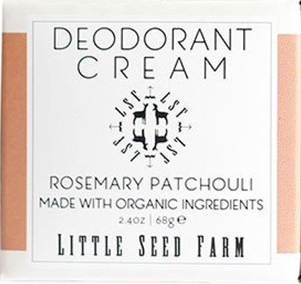 Little Seed Farm Natural Deodorant Cream, Rosemary Patchouli, Aluminum-Free, Baking Soda Free, 2.4 ()