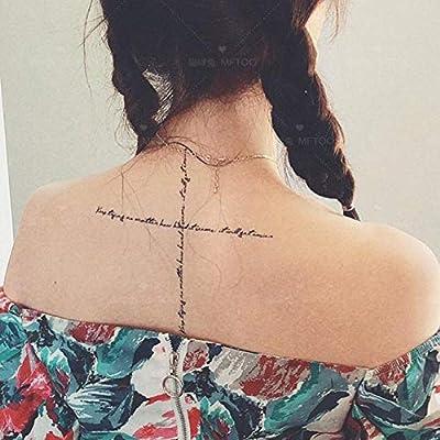 Ins largas pegatinas de tatuaje en inglés impermeables para ...