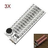 3Pcs 2x13 USB Mini Spectrum Red LED Board Voice Control Sensitivity Adjustable - Arduino Compatible SCM & DIY Kits