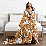 321DESIGN Cute Corgi Microfiber Flannel Blankets