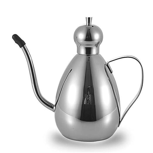 Botella de aceite de acero inoxidable dispensador de aceite y ...