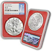 2020 Silver American Eagle MS-70 NGC (First Day of Issue) $1 MS70 NGC
