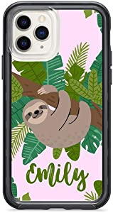 Kaidan iPhone Case 8 7 Plus 6S 6 Cute Sloth 12 Mini 11 Pro Max Custom Name XR X XS Green Leaves SE 2020 Samsung Galaxy Note 20 10 9 S10e Animal S20 S10 + S9 S8 Personalized Google Pixel 3 XL 2 appd160