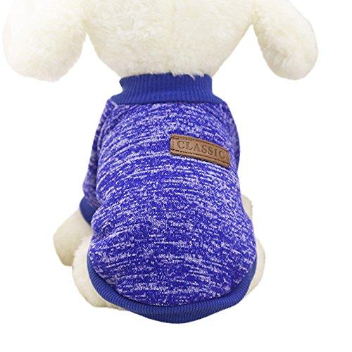 Wakeu Pet Supplies Pet Clothes For Small Dog Girl Dog Boy Soft Warm Fleece Clothing Winter (XL, Dark Blue)