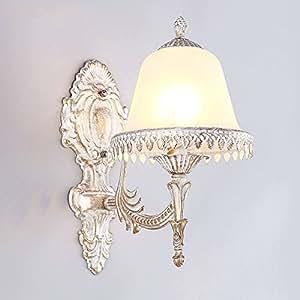 Amazon.com: Lámpara de pared LED retro, cristal de zinc ...