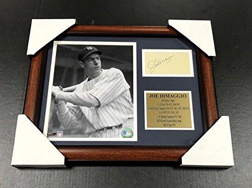 - Joe DiMaggio Autographed Photo - Cut Facsimile Reprint Framed 8x10 - Autographed MLB Photos
