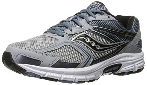 Saucony Men's Grid Cohesion 9 Running Shoe,Grey/Silver,8.5 M US