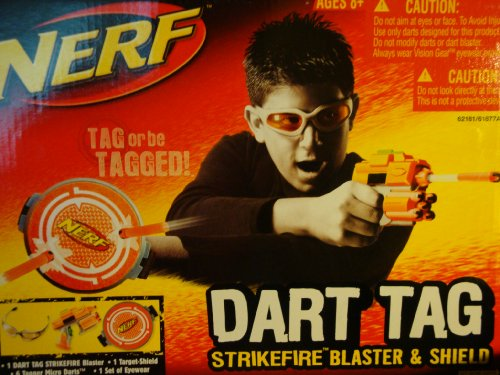 Nerf Dart Tag Strikefire Blaster and Shield - Orange