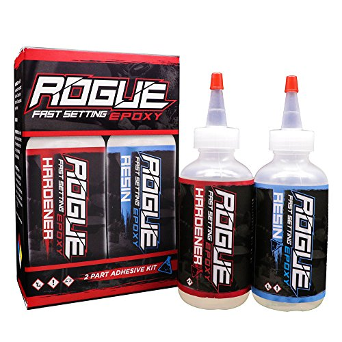 Rogue Fast Setting Epoxy Set For Knife Making, One 4 Oz Hardener And One 4 Ounce Resin Premium USA Made ()
