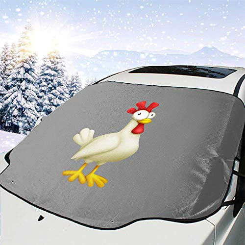 - Rooster Chicken Cock Car Front Windshield Cover 147 * 118cm Coated Waterproof Fabric with A 25 * 15cm Beaded Bag Easy Installation No Installation Tools are Required.