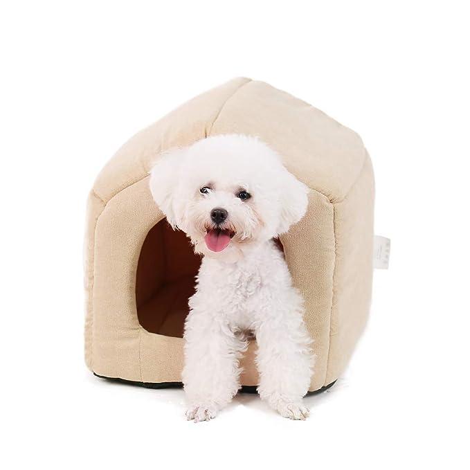 Ohana - Caseta Cuadrada 2 en 1 para Perro, Interior con Techo sofá Cama con cojín Desmontable para Gatos y Perros: Amazon.es: Productos para mascotas