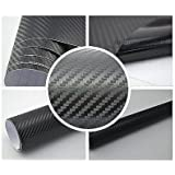 3,22€/m² 3D Carbon Folie - schwarz - 100 x 152 cm selbstklebend flexibel Car Wrapping Folie