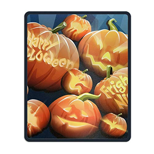 (Orange Pumpkins Mouse Map Pad with Nonslip Base 8.66 x 7.08 inch, Waterproof Mat for Desktop, Laptop, Keyboard, Enjoy Precise & Smooth Operating Experience)