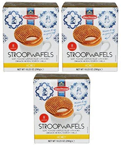 Daelman's Honey Stroopwafels Pack of 3 (10.23 Ounce)