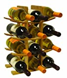 Home Basics Bamboo Wine Rack, 12-Bottle For Sale