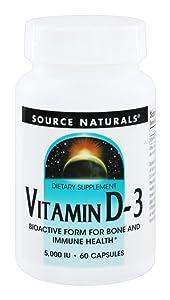 Vitamin D-3 5000 Iu 60 Capsules