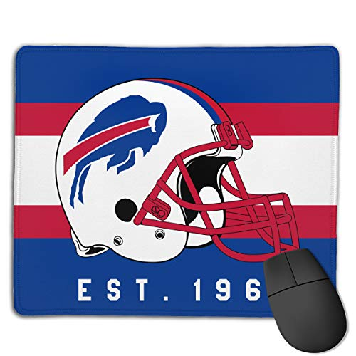Marrytiny Custom Colourful Mouse Pad Buffalo Bills Football Team Natural Rubber Mousepad Stitched Edges - 7.08x8.6 Inches