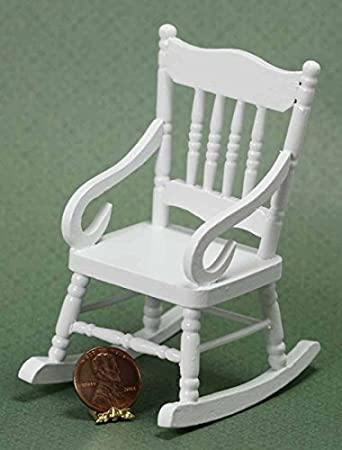 Surprising Buy Dollhouse Miniature White Wood Rocking Chair Online At Ibusinesslaw Wood Chair Design Ideas Ibusinesslaworg