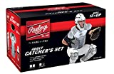 Rawlings Sporting Goods VCSA-B/GPH Adult Catcher Set Velo Series Protective Gear, Black/Graphite, Age
