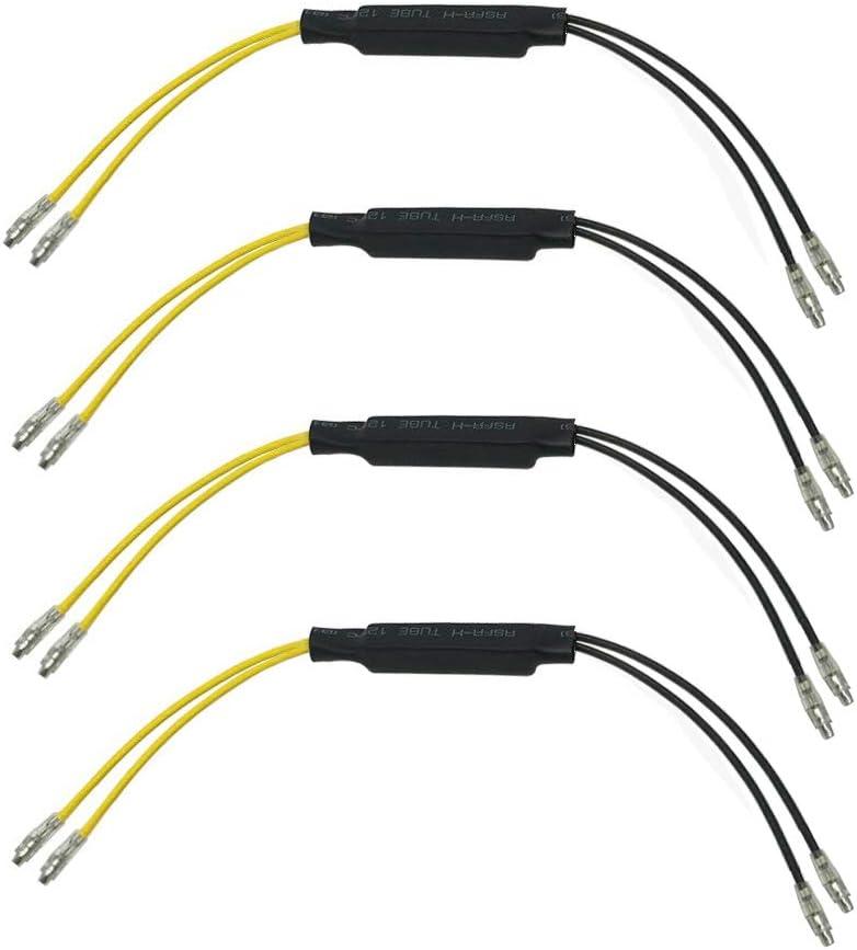 4 piezas Adaptador de Resistencia para Intermitentes moto LED,Rele 12V 21W para Intermitente moto led,Universal Resistencias de LED para Intermitentes para moto