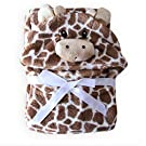 Brown Cow Animal Shape Baby Hooded Bathrobe / Baby Bathrobe / Baby Bath Towel / Baby Blankets / Neonatal Hold