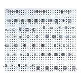 Pegboard Kit, White, Square, 24''W, Steel