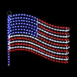 USA Flag LED Rope Light Motif