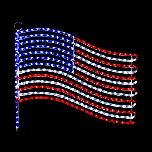 USA Flag LED Rope Light Motif by Brilliant (Image #1)