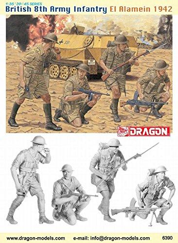 Dragon Models 1/35 British 8th Army Infantry, El Alamein 1942 (4 Figure Set) Dragon Model Kits