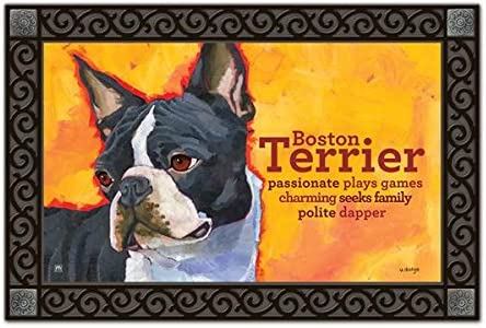 MatMates Boston Terrier Doormat