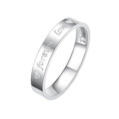 Amazon.com: Um Jewelry – Anillo de acero inoxidable Pareja ...