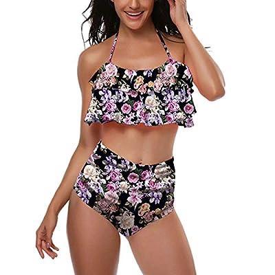 Print Sexy Two Piece Swimsuit Matching Swimsuit Clothing Sexy Bikini Split Swimsuit