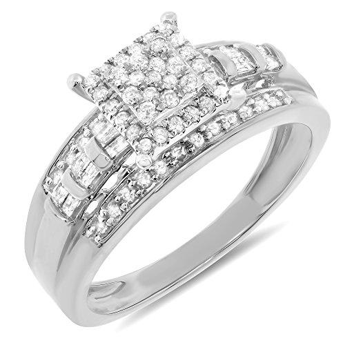 0.45 Ct Princess Diamond - 3