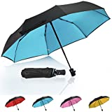 umbrella container - Compact Travel Umbrella Double Layer(Optional), QH Reinforced Waterproof Windproof Umbrellas for Women/Men,