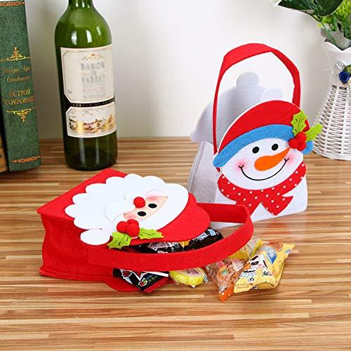 Topdo 1 Pieza Bolsa de Regalo Navidad con Cajas de Tela no Tejida Elk Lindo Port/átil Gift Bag para Navidad Fiesta de Boda Bolsas de Regalo Marr/ón 20 13cm