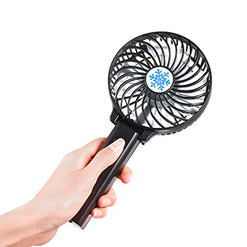 Decdeal Portable Hand Held Fan USB Rechargeable Ventilation Foldable Air Conditioning Fans