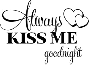 JWOMA Wall Stickers Always Kiss Me Good Night Wall Stickers Home Decoration Poster Wall Stickers